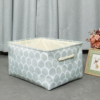 Foldable Fabric Storage Basket Bin Toy Clothing Cube with Drawstring Closure