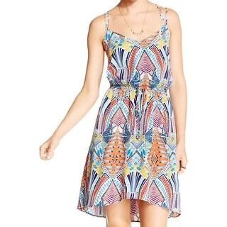 BeBop Womens Juniors Casual Dress Printed Criss-Cross Back - S|https://ak1.ostkcdn.com/images/products/is/images/direct/b7fbeef00f376cdf68c8169885c7cdc9689cc343/BeBop-Womens-Juniors-Casual-Dress-Printed-Criss-Cross-Back.jpg?_ostk_perf_=percv&impolicy=medium