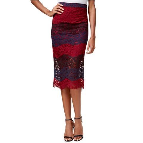 Bar Iii Womens Lace Pencil Skirt