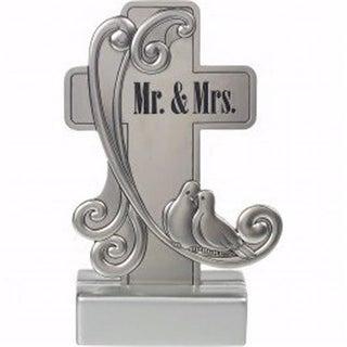 Precious Moments 6.25 in. Mr. & Mrs. Cross-Tabletop, Zinc Alloy