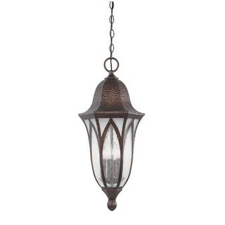 """Designers Fountain 20634-BAC 4 Light 11"""" Cast Aluminum Hanging Lantern from the Berkshire Collection"""