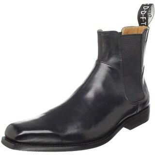 John Fluevog Mens Gratitude Leather Ankle Chelsea Boots - 8.5 medium (d)