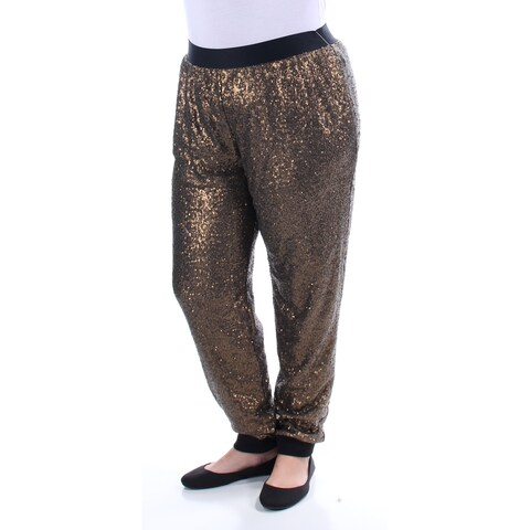 Womens Gold Casual Lounge Pants Size XL
