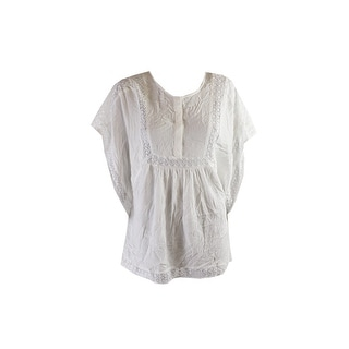 Two By Vince Camuto White Lace Inset Poncho Tunic M