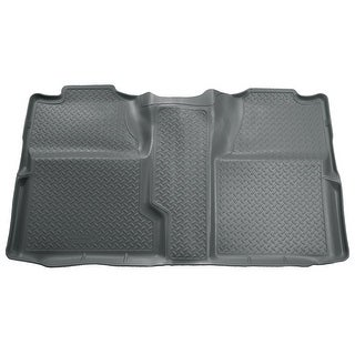 Husky Classic 2007-2013 GMC Sierra 1500 CrewCab 2nd Row Grey Rear Floor Mats/Liners