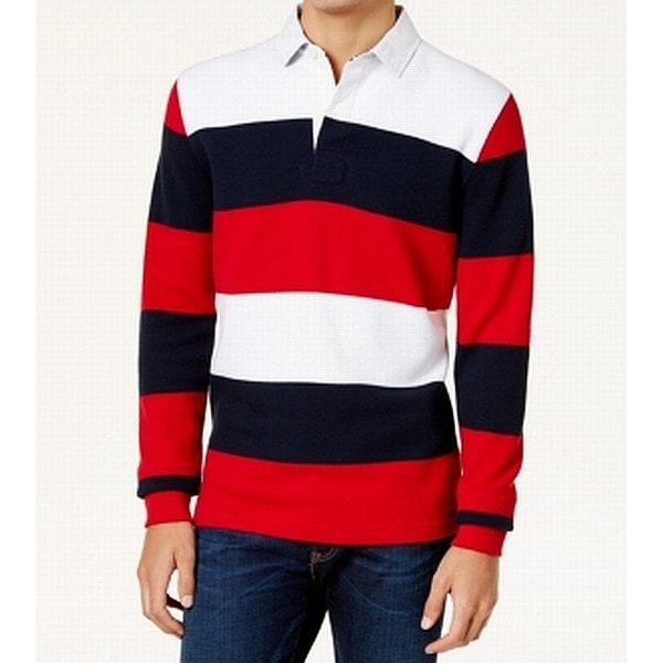 ff030925 Shop Tommy Hilfiger Red Blue Men XL Vintage Fit Stripe Polo Rugby Shirt -  Free Shipping Today - Overstock - 22438109