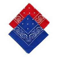 Umo Lorenzo Navy and Red Duo Bandana Pack (Pack of 2) - one size