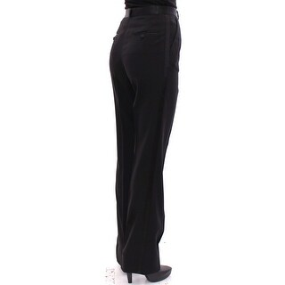 Dolce & Gabbana Black Virgin Wool Regular Fit Dress Pants - it40-s