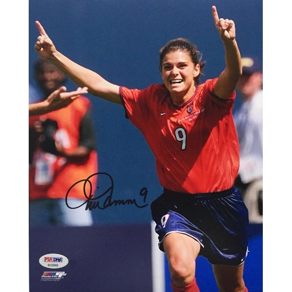 0cca247fd72 Shop Mia Hamm Signed USA Women s Soccer 8x10 Photo PSA - Free ...