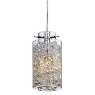 Platinum PCTS1503 Treasure 1 Light Mini Pendant with Glass Shade