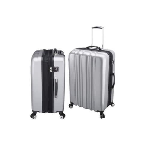 lightweight impervious luggage - silver 28""