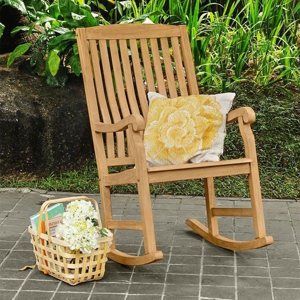 Cambridge Casual Sherwood Teak Outdoor Rocking Chair. Opens flyout.