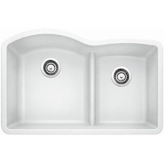 "Blanco 441593  Diamond 32"" Undermount Double Basin Composite Kitchen Sink"
