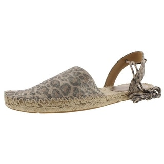 BELLE by Sigerson Morrison Womens Mai Espadrilles Suede Animal Print