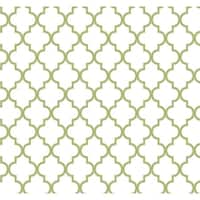 York Wallcoverings ER8196 Waverly Cottage Buzzing Around Trellis Wallpaper - creamy white/guacamole/sterling silver - N/A