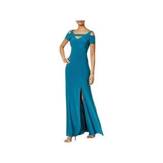 Nightway Womens Evening Dress Cut Out Cold Shoulder
