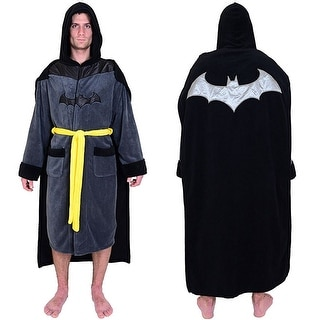 DC Comics Batman Men's Fleece Bathrobe with Cape