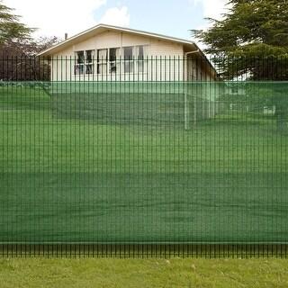 "vidaXL 6' 6"" x 16' 4"" Fence Windscreen-Privacy Mesh Screen/Net-Green"