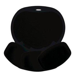Fellowes Easy Glide Gel Wrist Rest And Mouse Pad, Black (93730)
