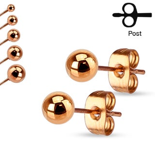 Pair of Stainless Steel Hollow Ball Stud Earrings - 3mm
