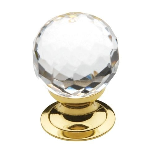 baldwin crystal inch diameter round cabinet knob from the estate