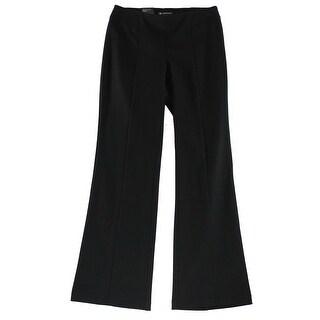 INC NEW Black Women's 8 Boot Leg Curvy Fit Stretch Ponte Knit Pants