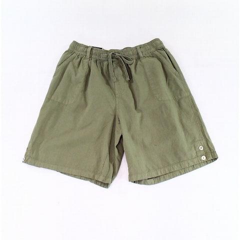 Karen Scott Green Womens Size XS Drawstring-Waist Casual Shorts