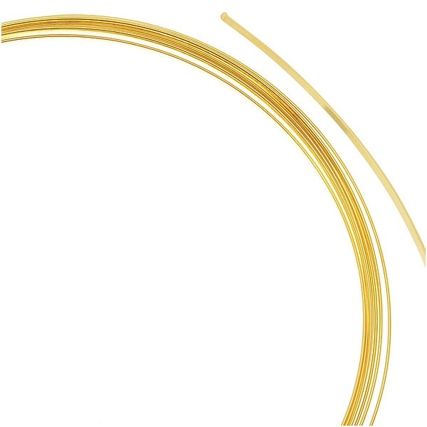 Beadalon Gold Plated Necklace Size Flat Memory Wire 3.75 Inch Loops (7 Coils)
