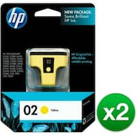 HP 02 Yellow Original Ink Cartridge (C8773WN) (2-Pack)