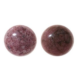 Pink Rhodonite Gemstone Round Flat-Back Cabochons 18mm (2 Pieces)