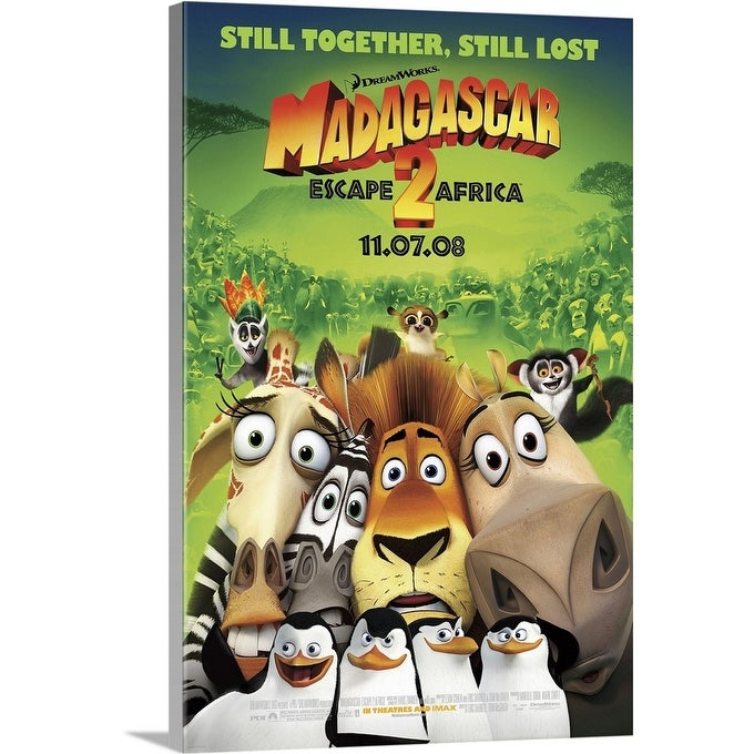 Shop Madagascar Escape 2 Africa Movie Poster Canvas Wall Art Overstock 24136380