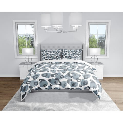 SHEESHE BLUE AND GREY Duvet Cover By Kavka Designs