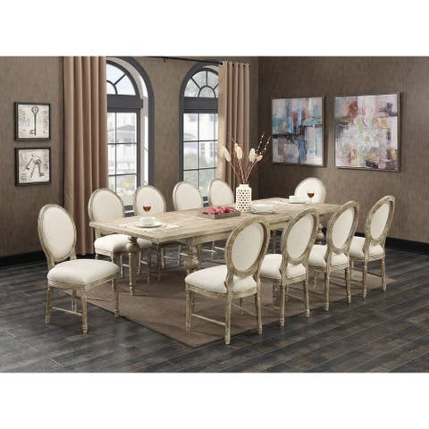 The Gray Barn Willow Way 11-Piece Rustic Casual Dining Room Set