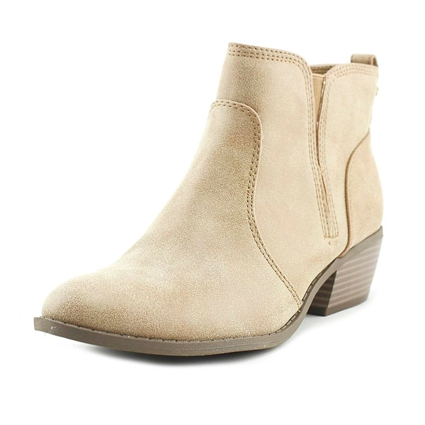 G By Guess Towny Women Round Toe Synthetic Tan Ankle Boot