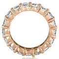 5.60 cttw. 14K Rose Gold Round Shared Prong Diamond Eternity Ring - Thumbnail 1