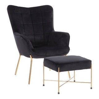 Link to Izzy Lounge Chair with Ottoman - N/A Similar Items in Accent Chairs