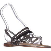 Carlos Carlos Santana Diego Flats Sandals, Graphite