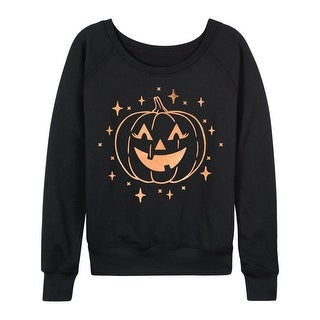 Jackolantern Stars Rose Gold Foil - Ladies Lightweight French Terry Pullover