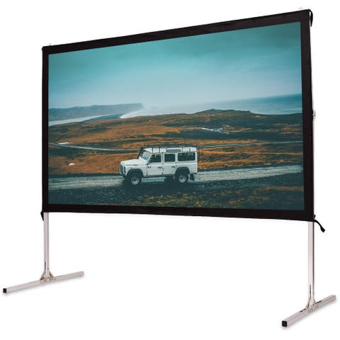 Gymax 100'' Standing Portable Fast Folding Projector Screen W/Carry