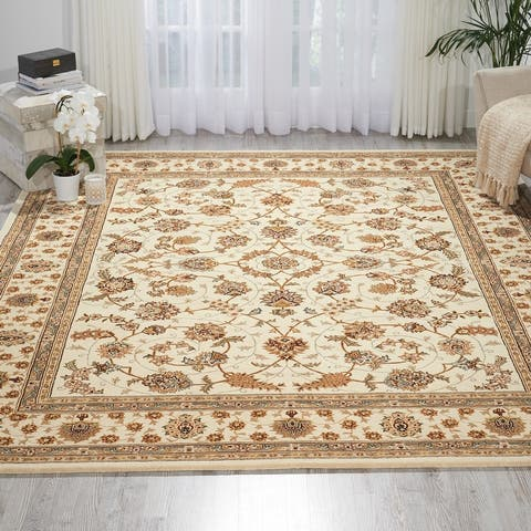 Nourison Hand-tufted Floral Scroll Traditional Persian Area Rug