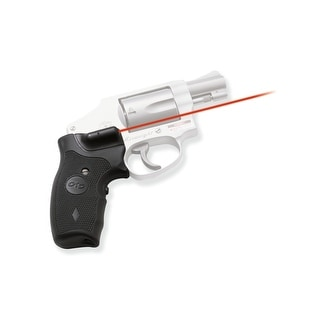 Crimson Trace Lasergrip For Smith And Wesson J-Frame Round Butt, Black, Rubber Overmold Grip With Front Activation
