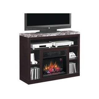 Classic Flame Adams Media Mantel Electric Fireplace - coffee black