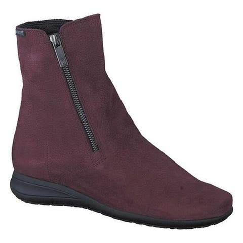 Mephisto Women's Nessia Ankle Boot Wine Bucklux Smooth Suede