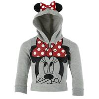 Disney Children's Minnie Mouse Hoodie with Ears and Bow
