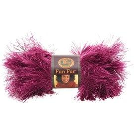 Lion Brand Yarn 320-146 Fun Fur Yarn, Magenta