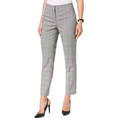 Nine West Womens Plaid Dress Pants, grey, 6
