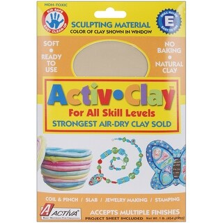 Activ-Clay Air-Dry Clay 1lb-White - White
