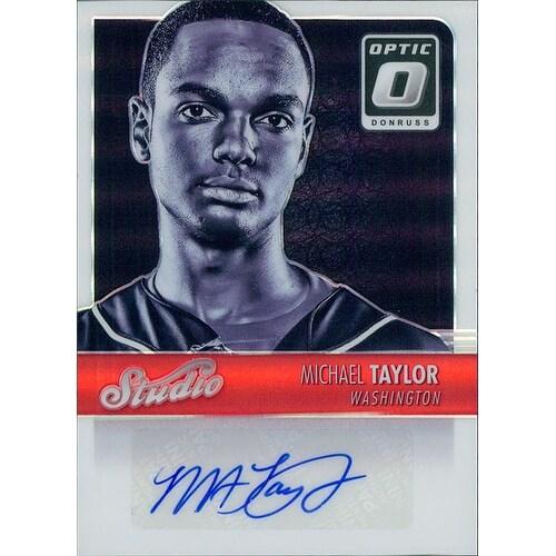 Signed Taylor Michael Washington Nationals Michael Taylor 2016 Donruss Optic Baseball Card Autograp