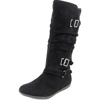 Sarah Jayne Fran Round Toe Synthetic Mid Calf Boot
