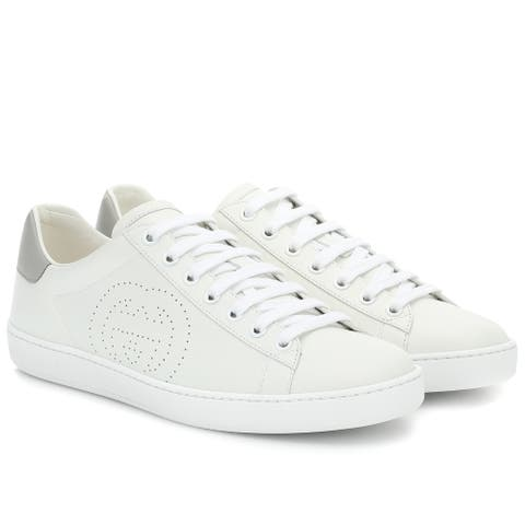 Gucci Womens White Ace Interlocking Sneakers Shoes